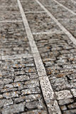 Stone sidewalk, small depth of field Stock Photo