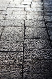 Stone sidewalk, small depth of field Royalty Free Stock Photos