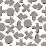 Stone signs seamless pattern stock illustration