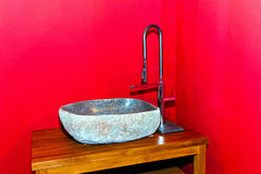Stone sink Stock Image