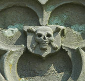 Stone Skull Stock Photography