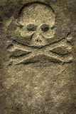 Stone Skull Crossbones Stock Photos