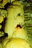 Stone Skull formation in New Athos cave Stock Photography