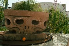 The stone skull stock images