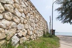 Stone slab wall Royalty Free Stock Photo