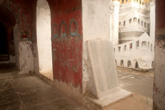 Stone slabs of Buddhist ( Tripitaka texts ) at Pagoda of Nyan Sh Stock Photo