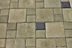 Stone slabs, walkways Stock Photo