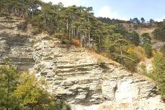 Stone slopes. Ridge Taraktach near the city of Yalta Stock Photos