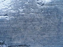 Stone with snow. Royalty Free Stock Photo