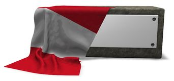 Stone socket and flag of peru Royalty Free Stock Photo