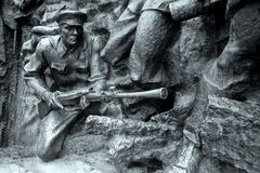 Stone soldier, Great Patriotic War. Stone soldier Great Patriotic War Kyev Ukraine gun human infantry marines militant Royalty Free Stock Photos