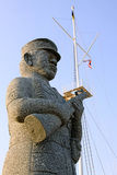 Stone soldier statue Royalty Free Stock Photography