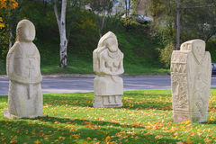 Stone soldiers royalty free stock image