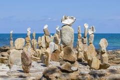 Stone sorting at the beach, Koh Samet Thailand Royalty Free Stock Photos