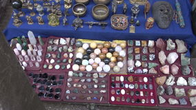 Stone souvenirs collection in market, India Stock Image