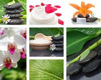 Stone Spa Collage Stock Photography