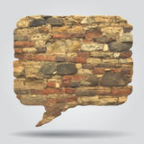 Stone Speak bubble Stock Photo