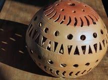 Stone Sphere Garden Art Stock Image