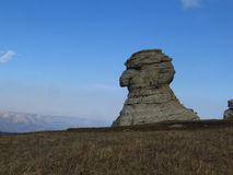 Stone sphinx. In the Crimean mountains royalty free stock photos