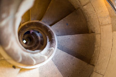 Stone spiral stairway Stock Image