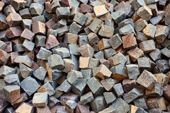 Stone square bricks. For old city roads Royalty Free Stock Image