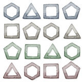 Stone Squares, Triangles And Other Shapes Set Stock Images