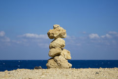 A stone stack Royalty Free Stock Images