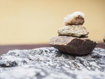 Stone stack Balance Meditation Harmony Zen spa. Nature Rock Stock Photography
