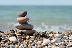 Stone stack on beach Stock Photography
