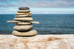 Stone stack on beach Royalty Free Stock Photography