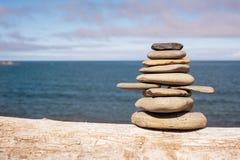 Stone stack on beach Stock Image