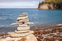 Stone stack on beach Royalty Free Stock Photo