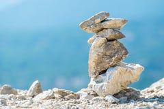 Stone stack. Greece Stock Photos