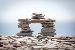 Stone Stack. A stack of stones in a shape Royalty Free Stock Images