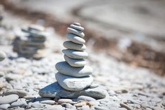 Stone Stack. A stack of stones in a shape Stock Images