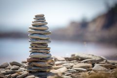Stone Stack. A stack of stones in a shape Stock Photography