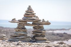 Stone Stack. A stack of stones in a shape Stock Photos