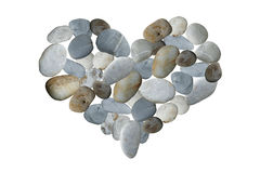 Stone stacked in shape of heart isolated. This has clipping path Royalty Free Stock Photos