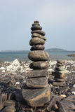 Stone. Stacking of beautiful stone koh hin ngam, national park of mu koh  adang rawi satun, southern thailand Stock Image