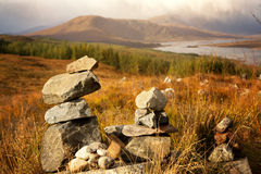 Stone stacks in the Highlands Stock Image