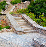 Stone stair in mountains Royalty Free Stock Photography