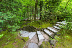 Stone Stair Steps at Japanese Garden Royalty Free Stock Photo