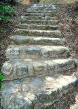A Stone Staircase. Leading to an Upper Wilderness Trail royalty free stock images
