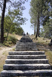 Stone Staircase. With peoplo going up,  Portugal Royalty Free Stock Photography
