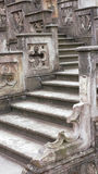 Stone staircase in castle. Old carved stone staircase in castle Royalty Free Stock Photography