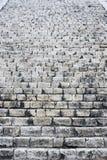 Stone staircase El Castillo Chichen Itza Stock Photo