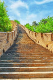 Stone staircase of Great Wall of China, section Royalty Free Stock Images
