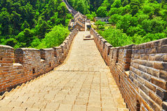 Stone staircase of Great Wall of China, section Stock Images