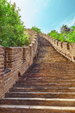 Stone staircase of Great Wall of China, section Royalty Free Stock Image