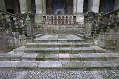 Stone staircase in a historic building Royalty Free Stock Photography